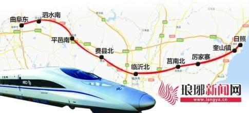 魯南高鐵線路圖