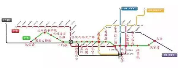 兰州地铁1号线最新消息(线路图 站点 开通时间)