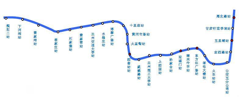 兰州地铁线路+线网图