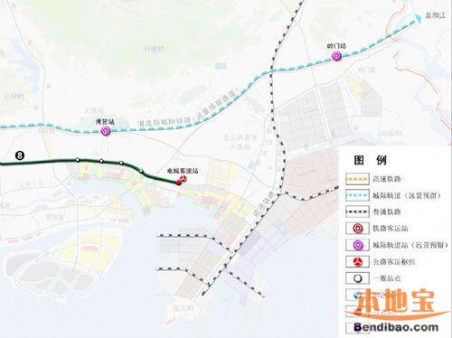 茂名地铁一号线、二号线站点分布详情