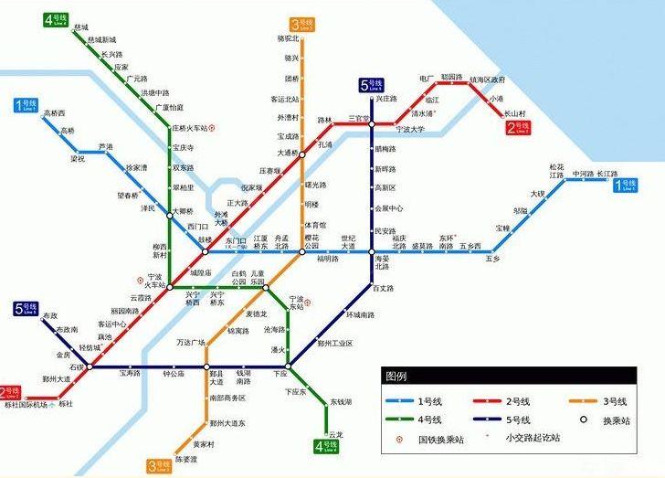 宁波地铁3号线线路图分布图片