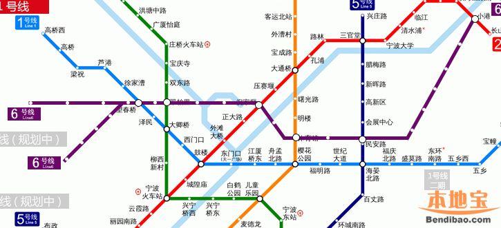 宁波地铁6号线线路走向