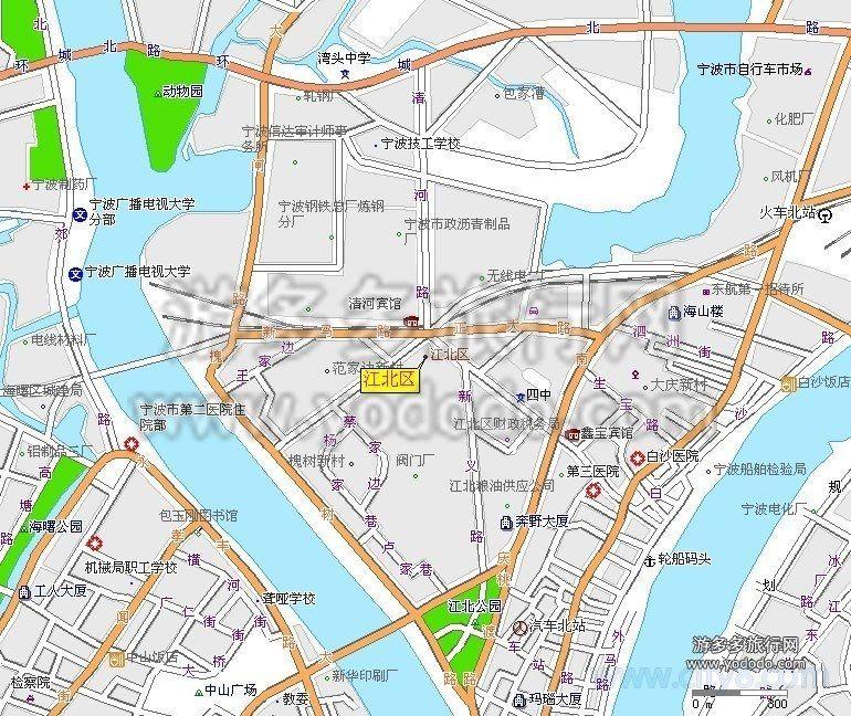 宁波江北区人才市场_江北区地图全图高清版 - 宁波本地宝