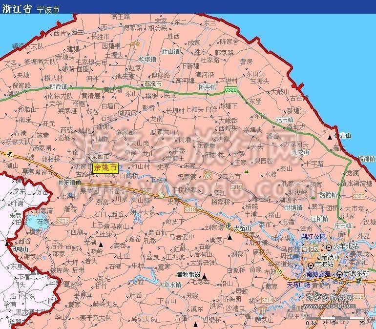 余姚市地图全图高清版