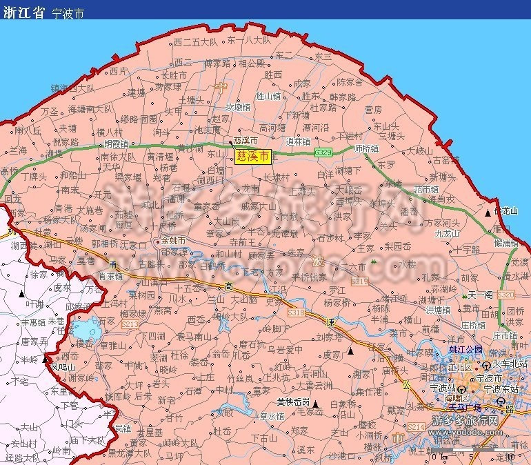 慈溪市地图全图高清版图片