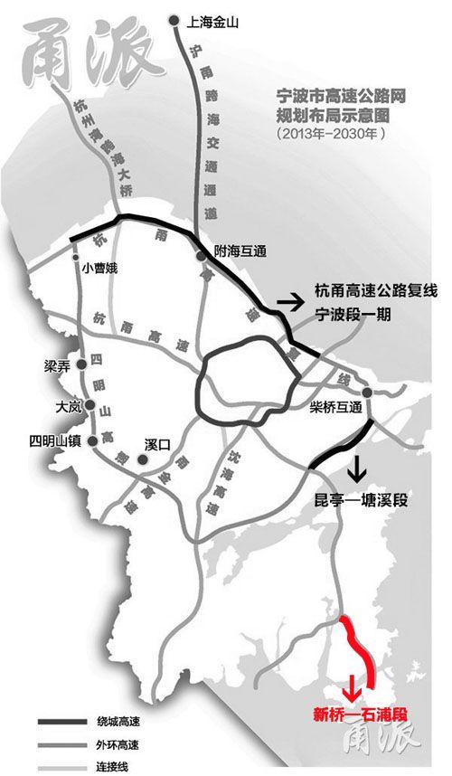 宁波-舟山港石浦港区沈海高速连接线石浦至新桥段规划