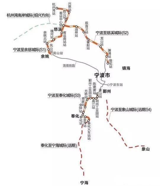 宁波至慈溪城际铁路什么时候完工?附宁波至慈溪城际铁路线路图