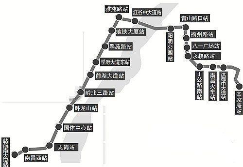 南昌地鐵2號線最新消息(站點+線路圖+開通時間)