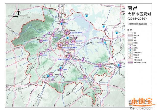 南昌地铁新增四条线路(线路+站点)