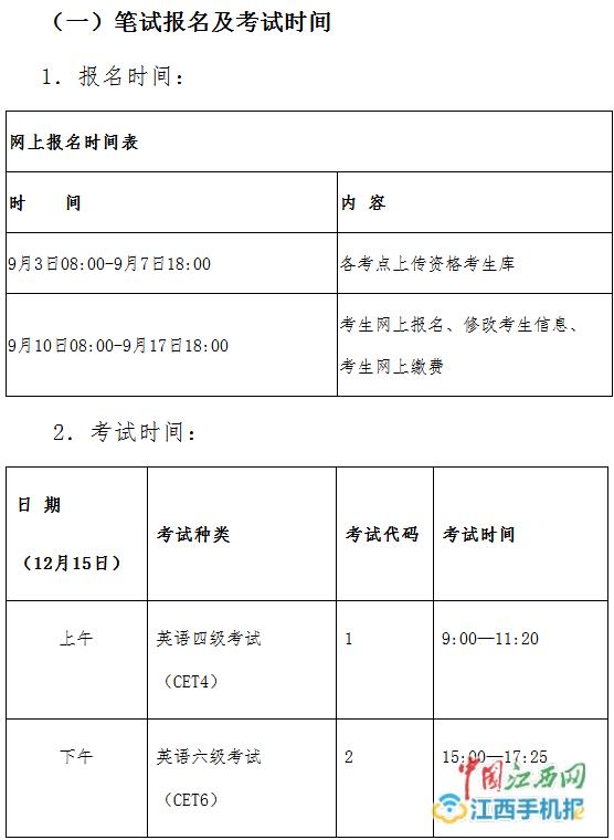 2018下英语四六级考试时间安排出炉 9月10日起报名