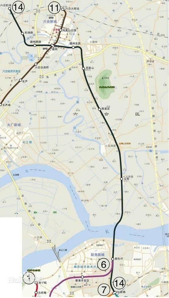 南京地铁14号线最新线路图