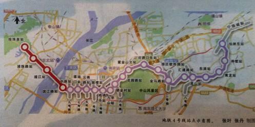 南京地铁4号线二期线路图一览