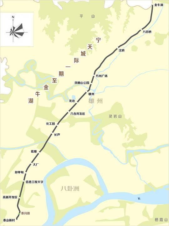 南京宁天城际轨道交通一期