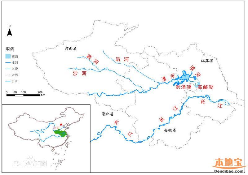 淮河流域图 - shufubisheng - 修心练身的博客