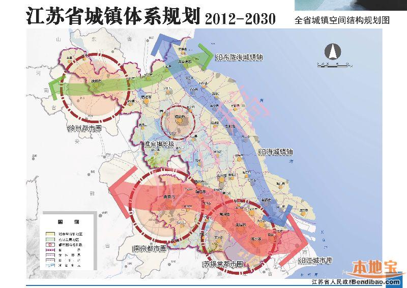 江苏省城镇体系规划图