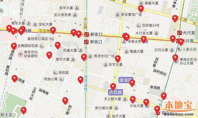 南京公共自行车站点大全(分布图)