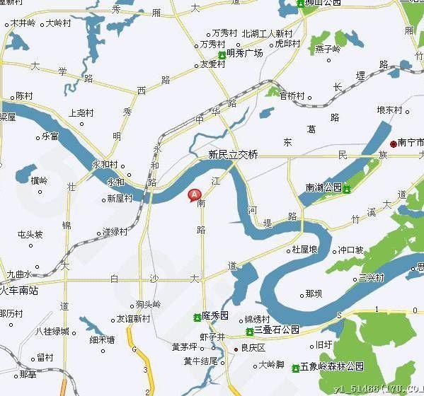 广西南宁西乡塘区地图全图高清版