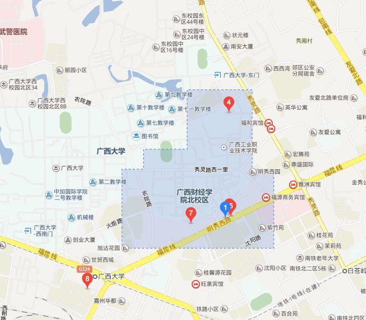 学院 北校区 地图