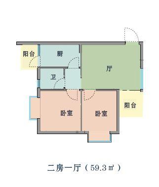 南宁高坡岭人才公寓户型