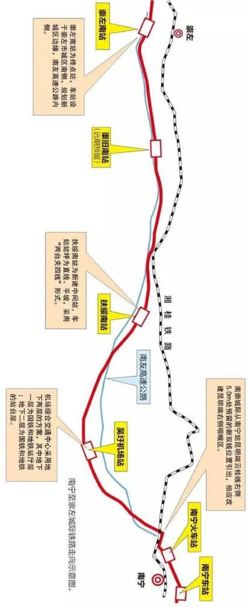 南崇铁路4个新建车站选址公布