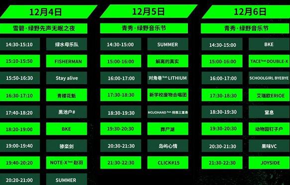 2020年南宁绿野音乐节签售时间表