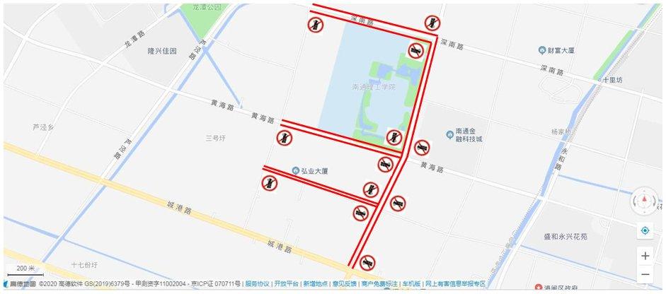 南通限行规则(时间+路段)