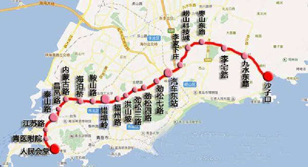 青岛地铁4号线线路图 详细图片