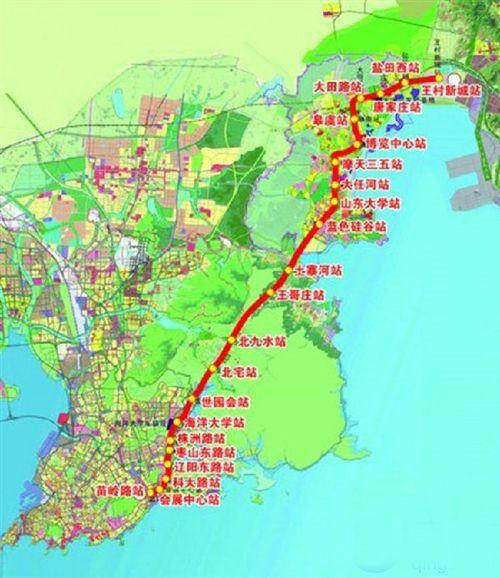 青岛地铁11号线线路图图片