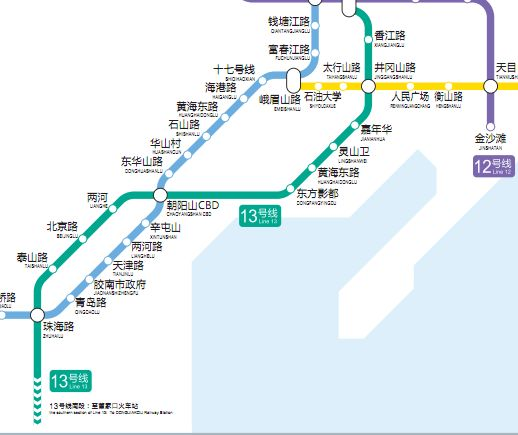 青岛地铁13号线线路图图片