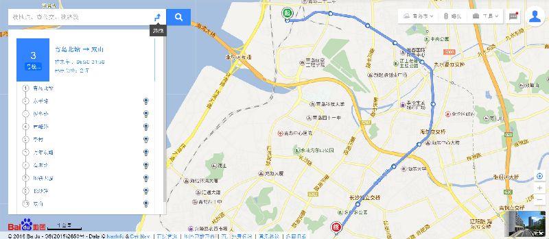 青岛地铁3号线线路走向