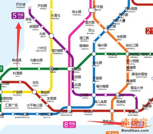 青岛地铁5号线线路走向图片