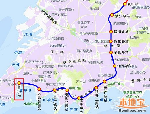 青岛地铁3号线南段线路图 2016图片
