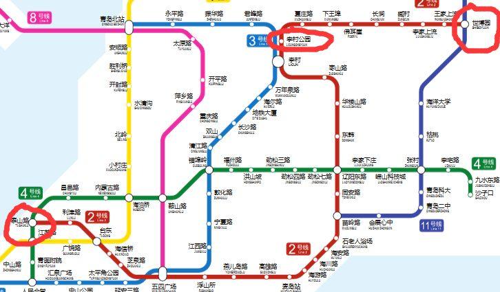 青岛地铁2号线延长线初步规划 站点 走向图片