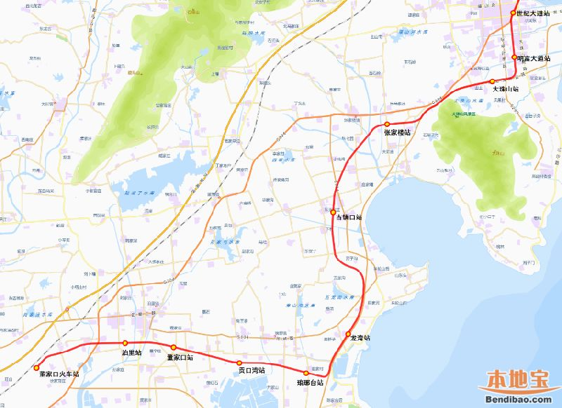 青岛地铁13号线线路图(最新版)