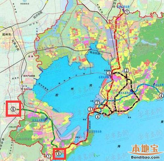 青岛地铁6号线线路图图片