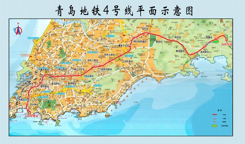 青岛地铁4号线线路图