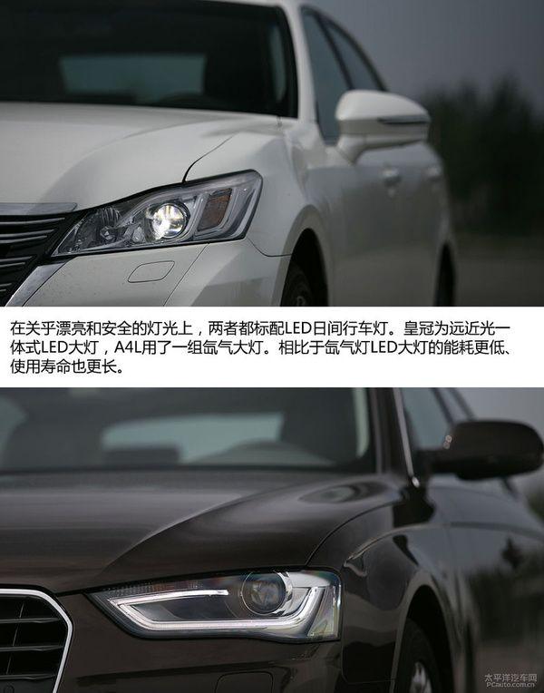 丰田皇冠和奥迪A4L哪个好 跨界PK高清图片