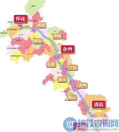 广清怀高铁路线图图片
