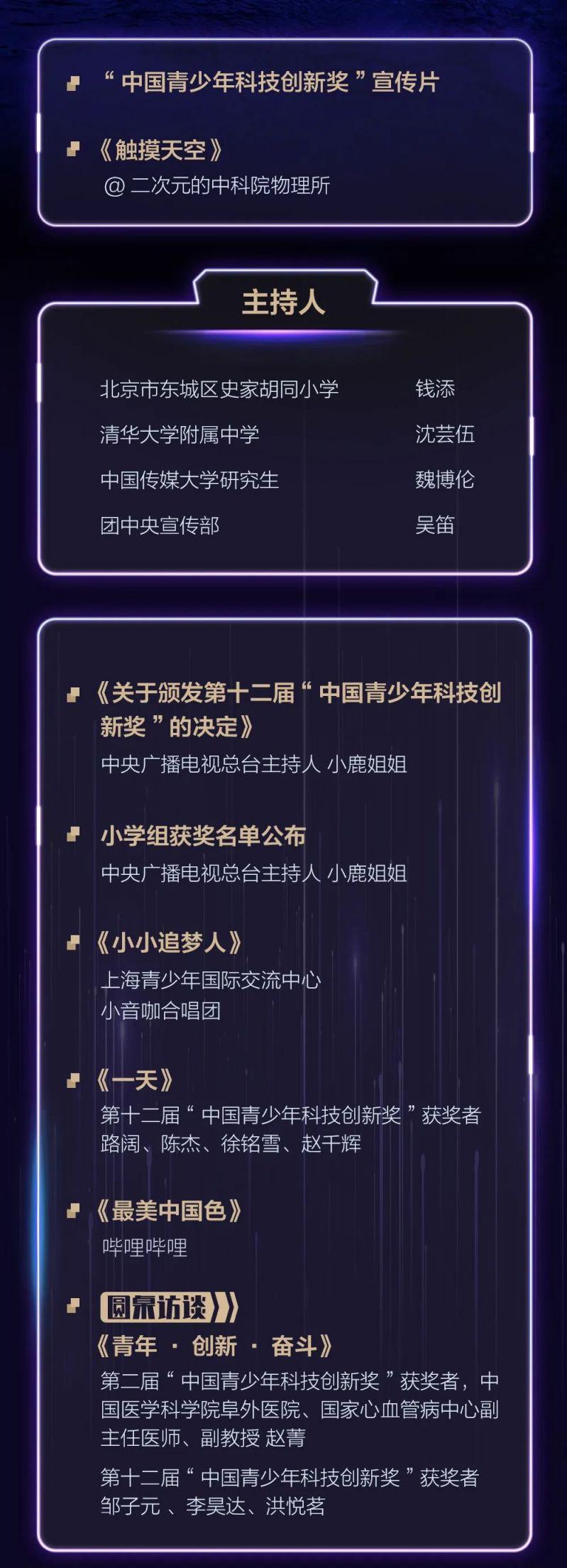 第十二届中国青少年科技创新奖直播时间 直播入口