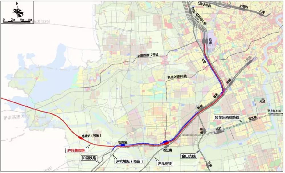 沪苏湖铁路建设获批 上海段设置松江南站
