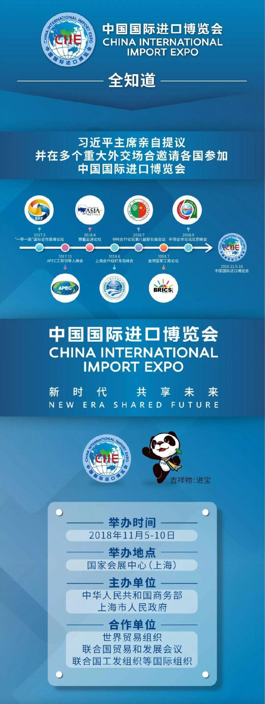 2018首届中国国际进口博览会 (11/5-10 上海)
