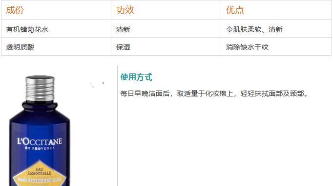 欧舒丹十大畅销产品排行榜