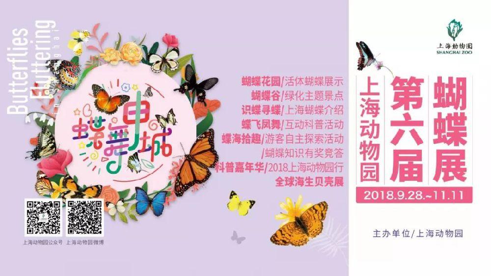 2018上海动物园第六届蝴蝶展9月28日盛大开幕