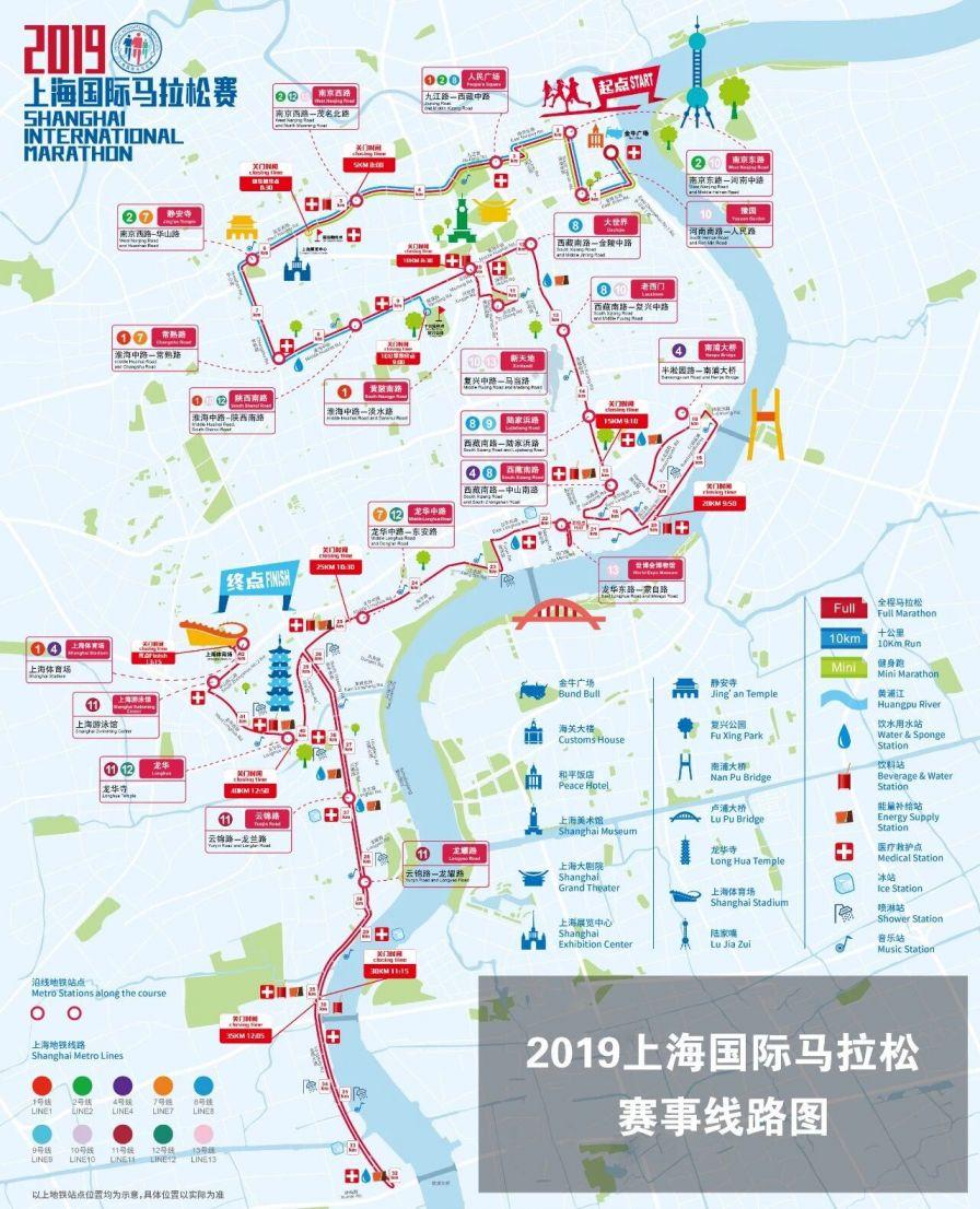 2019上海国际马拉松赛亲朋棋牌官网管制范围+时间