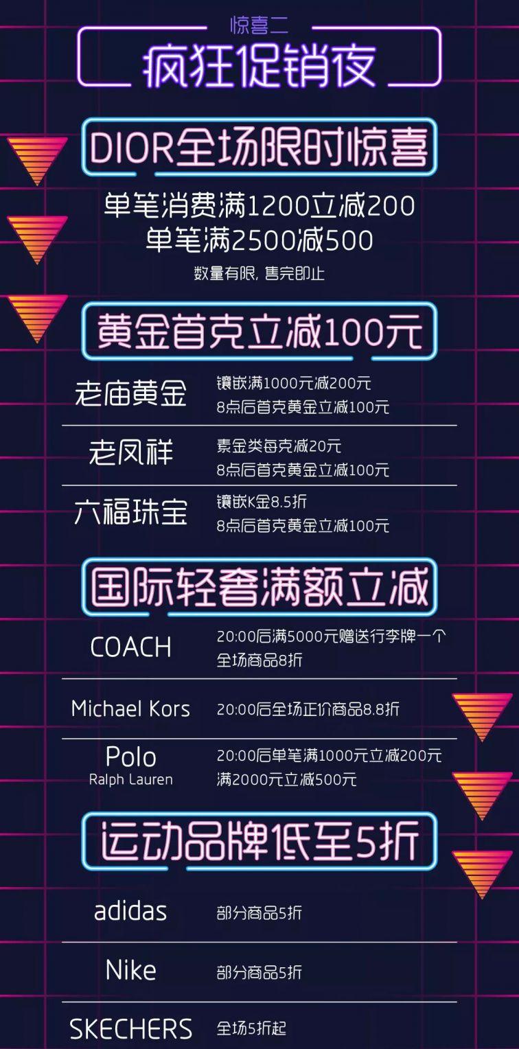 上海環球港111瘋狂促銷(xiao)夜 精選(xuan)品牌5折起