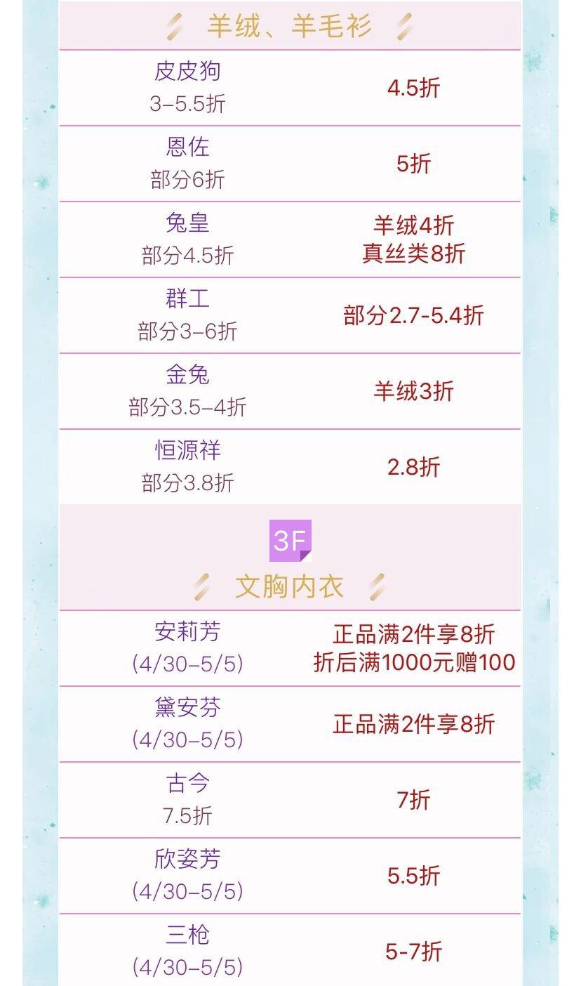 上海六百五五购物节折扣一览