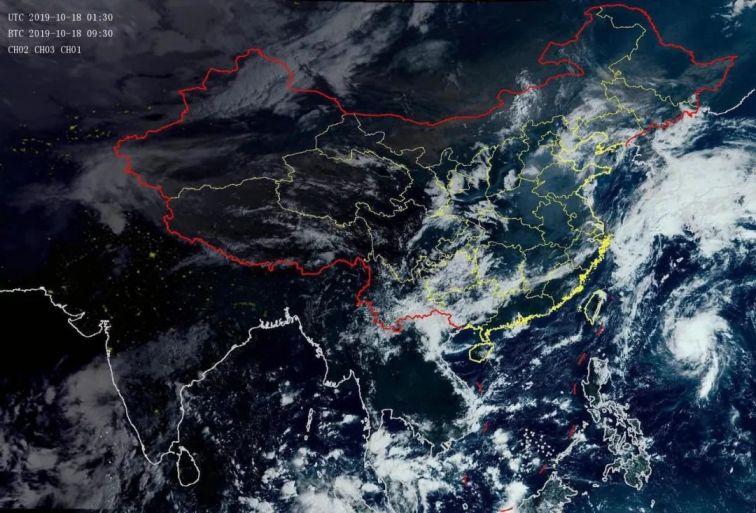 2019年第20号台风浣熊生成 将向西偏北方向移动