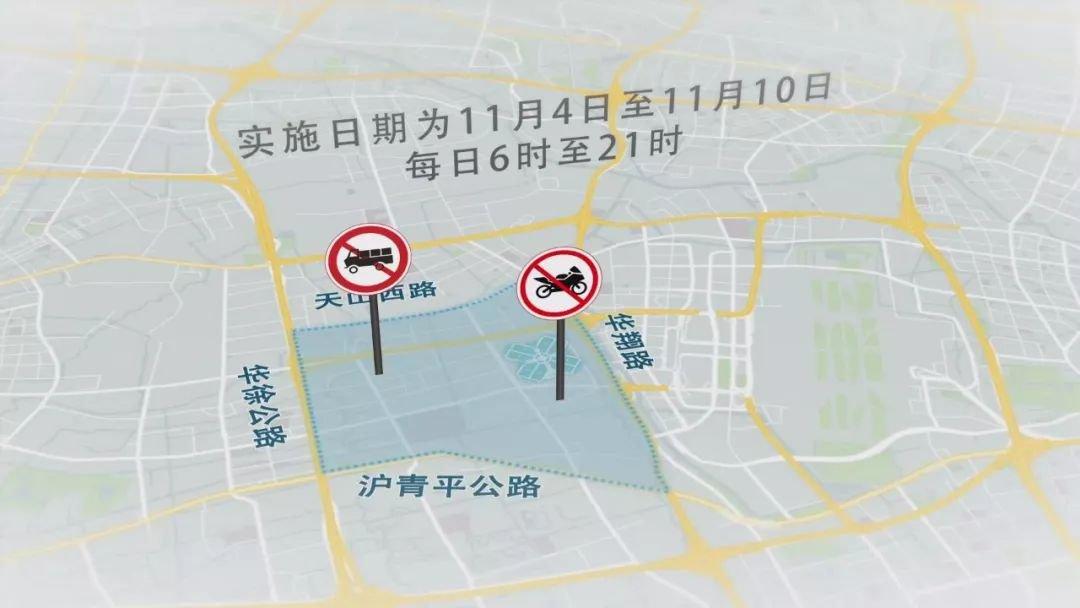 11月9日上海进博会交通管制及高架限行规定