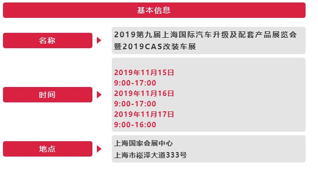 2019上海CAS改装车展开幕 日程安排一览