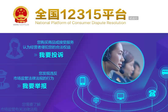 全国12315平台上线 五条投诉举报热线及平台统一整合
